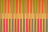 Decorative texture of bamboo chopsticks