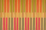 Decorative texture of bamboo chopsticks