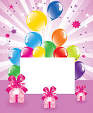 vector festive balloons and gift boxes