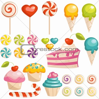 Set of sweets icons