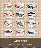 cartoon sunglasses/glasses card