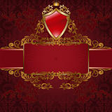 Royal symbols on red