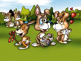Rabbits and Easter