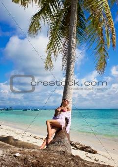 Beautiful woman relaxes