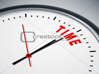 time in red
