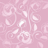 Seamless wallpaper pattern with of pink roses