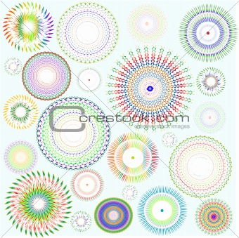 abstract vector background floral design element