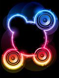 Disco Speaker with Neon Rainbow Circle