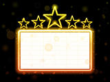 Star Neon Movie Sign With White Copyspace