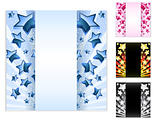 Star Card with Stripes. Set of 4 layouts