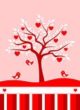 heart tree background