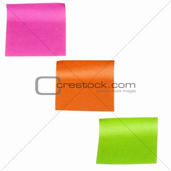 bright set of the different color stickers with artistic flash