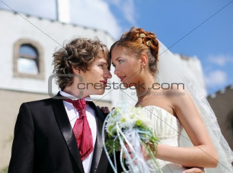 young couple entering into marriage