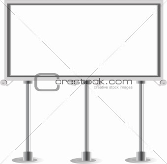 advertisement empty Billboard. Vector