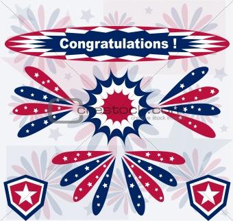 American theme banners patriotic set