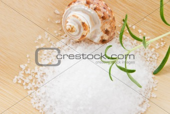 Close up of Bath Salts and Rosemary