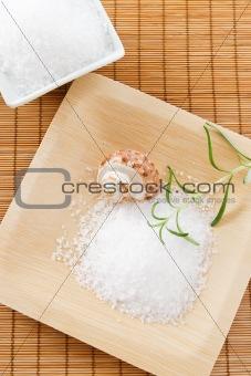 Bath salt scrub with aromatic rosemary