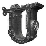 steampunk letter u