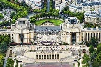Chaillot palace view from Eifell tower