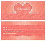 Feast invitation, template