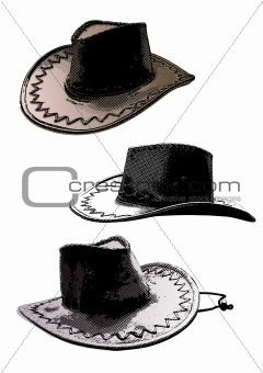 country hats trio