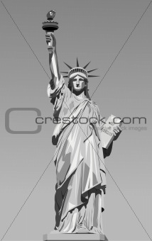 vector illustration of statue of liberty