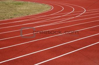 Asphalt for runners track turn zoomed foto