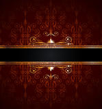 seamless wallpaper with golden decoration
