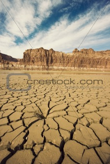 Drying River in Utah