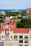 University of Chicago campus aerial photo