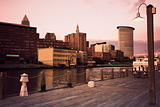 Cleveland during sunset