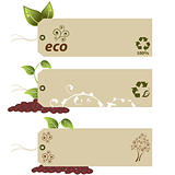Eco tags with copyspace