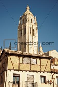Cathedral in Segovia, Spain.