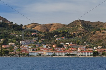 town at sea coast