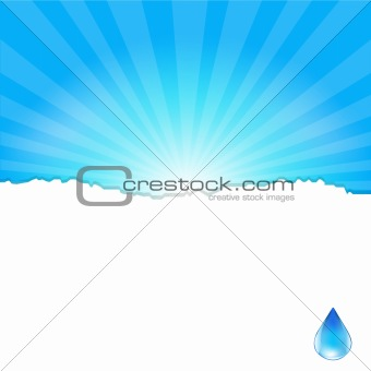 Background With Water Drop