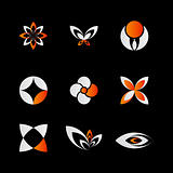 orange logo elements
