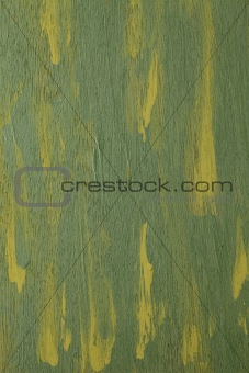 green abstract painted  on wood