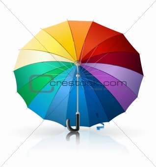 umbrella with rainbow colour