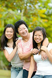 Senior lady and her daughters