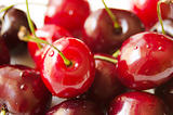 Fresh wet cherries