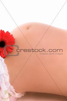 pregnant woman close-up