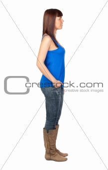 Beautiful girl with jeans