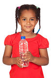African little girl with water bottle