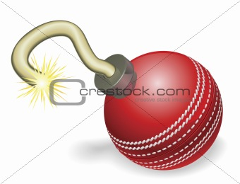 Cricket ball bomb concept