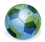 World globe soccer ball concept