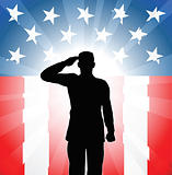 Patriotic soldier salute