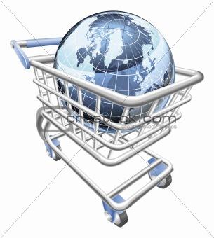 Globe shopping cart concept