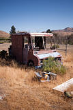 Old rusty abandoned car
