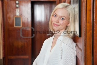 Portrait of beautiful smiling young blond woman