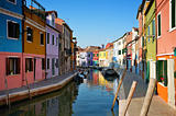 Burano island houses